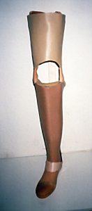 Unterschenkelprothese in Schalenbauweise